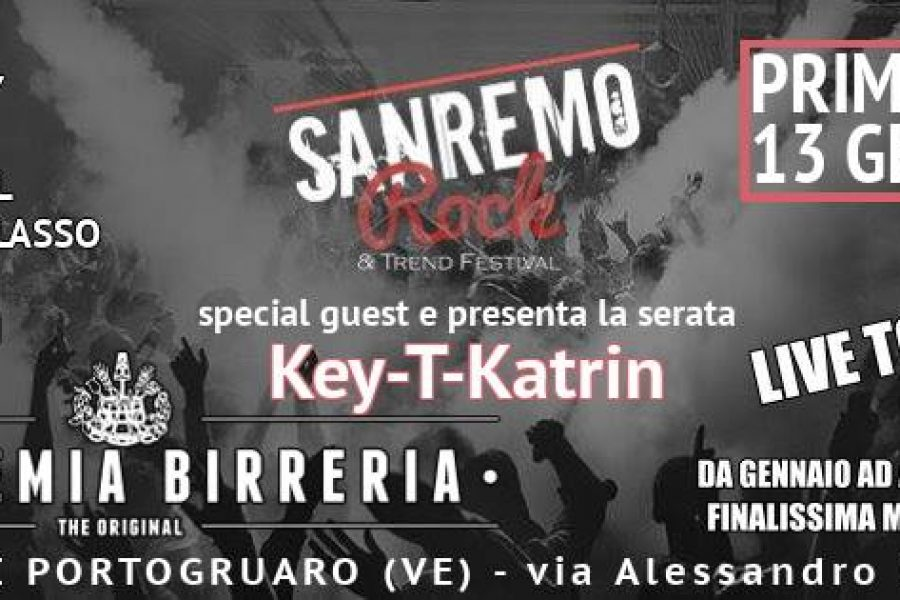 Venerdì 13 Gennaio 1° tappa del Live Tour 2017 Sanremo Rock
