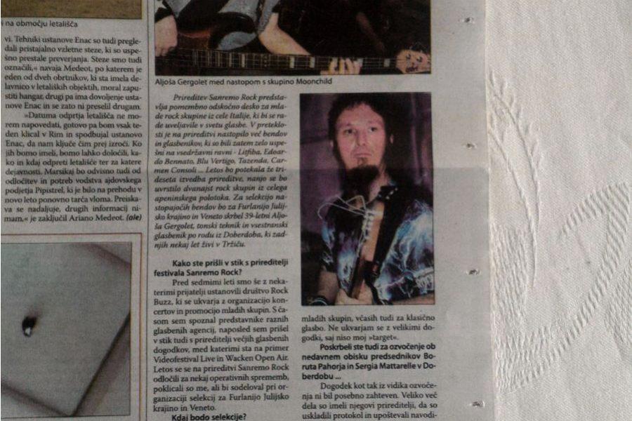 Sanremo rock – intervista ad Aljosa Gregolet Responsabile Veneto e Friuli – Primorski Dnevnik