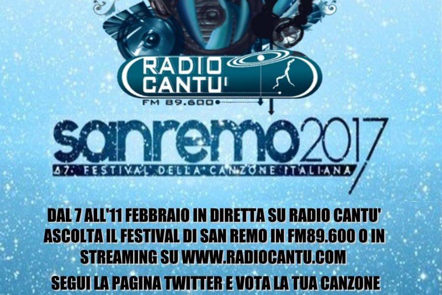 Sanremo rock in diretta radio dagli Studi di Via Vittorio Veneto a Sanremo su radio Cantù.