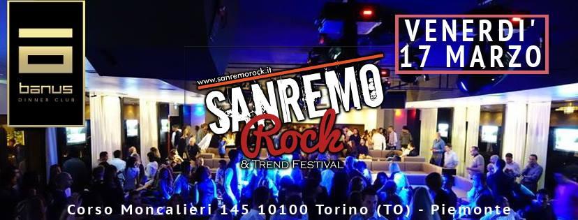 Questa sera il Sanremo Rock approda nella Città di Torino alla discoteca Banus!