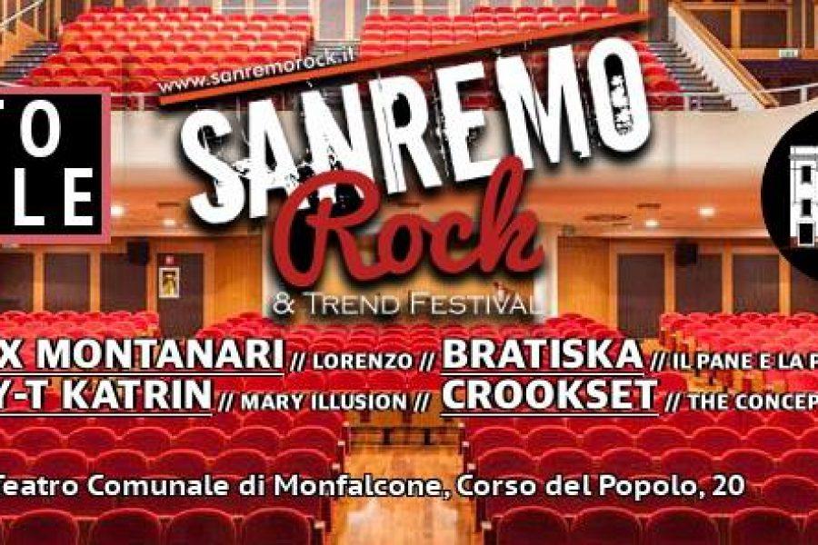 Sanremo rock questa sera Teatro Comunale di Monfalcone, hanno scritto di noi: