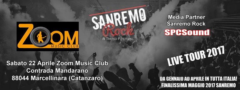 Sabato 22 Aprile ultima tappa live di audizioni a Marcellinara di Catanzaro allo Zoom Music Club.