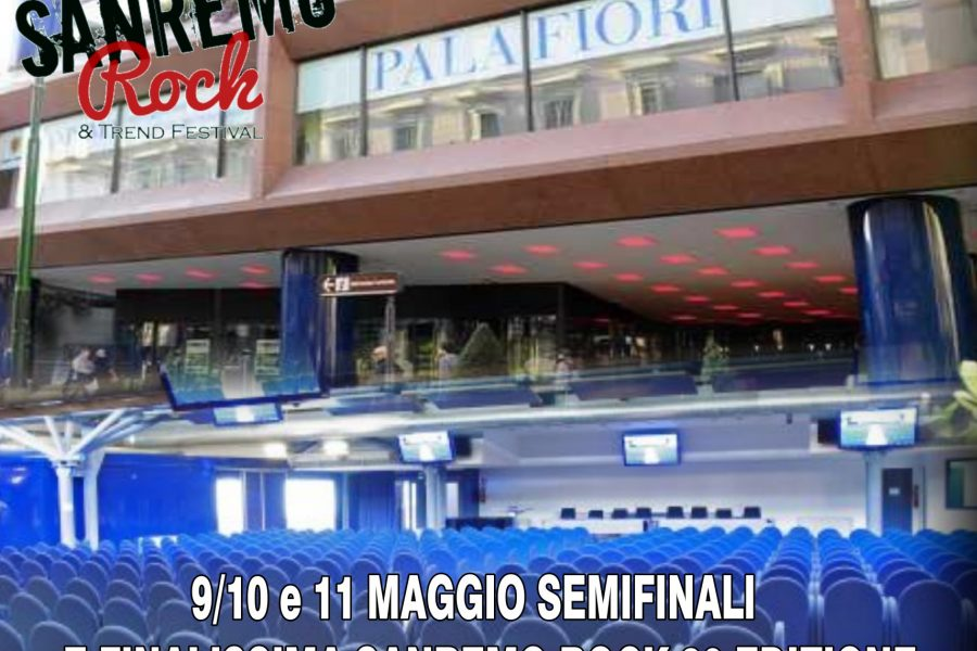 Sanremo Rock 30° Edizione dal 9 Maggio le finali al Palafiori in Sanremo.