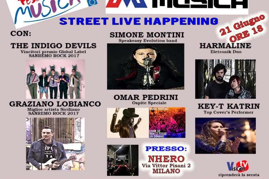 Sanremo Rock con tanti dei suoi finalisti della 30^ edizione a Milano alla festa della musica evento Europeo!