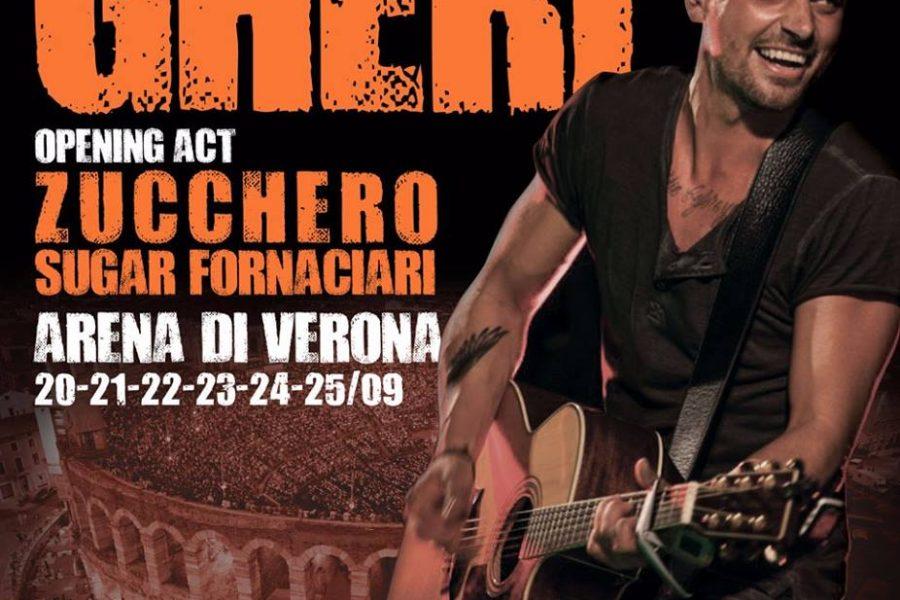 """Gheri Opening Act """"Arena di Verona"""" Zucchero Fornaciari!"""