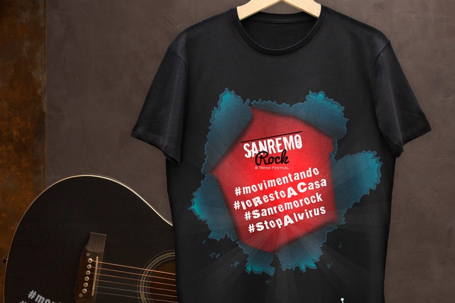 T Shirt Sanremo Rock Dupplici per #Movimentando #IoRestoACasa