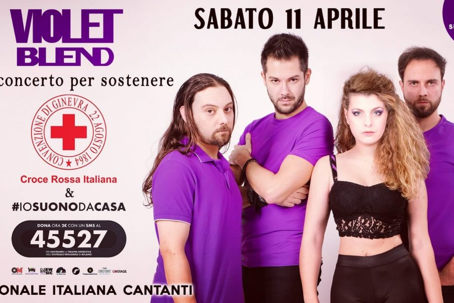 Violet Blend in concerto in streaming per sostenere la Croce Rossa Italiana