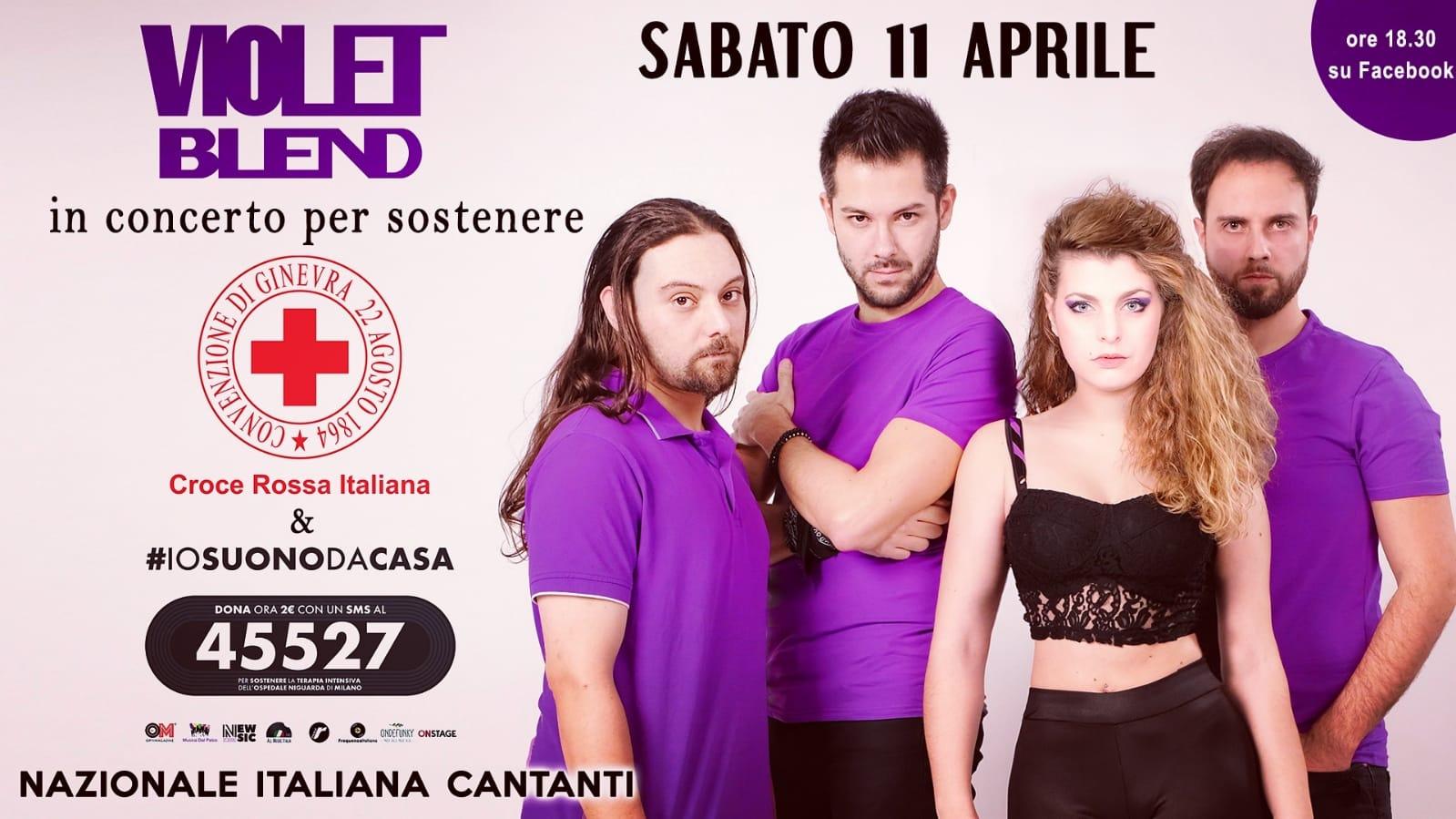 Violet Blend in concerto in streaming per sostenere la Croce Rossa Italiana