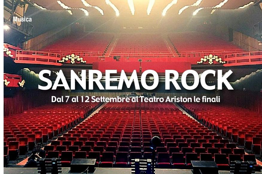Finali nazionali Sanremo rock dal 7 al 12 settembre