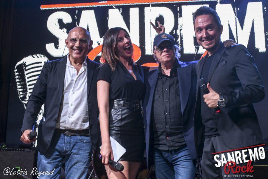 Gigio D'Ambrosio & Laura Ghislandi con Gigi Zini alla conduzione di Sanremo Rock