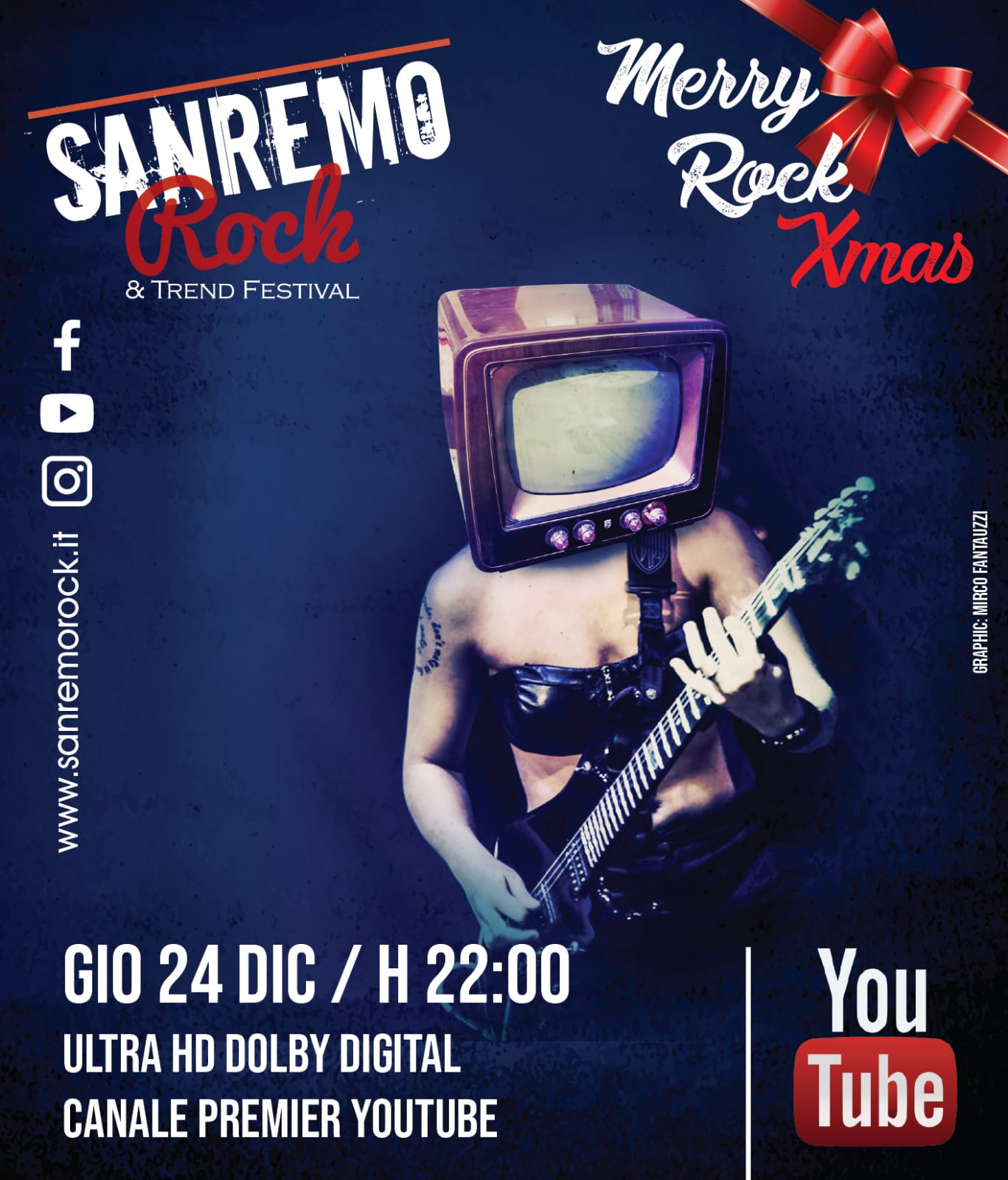 "Alle ore 22.00 SANREMO ROCK & TREND FESTIVAL ""Full HD 4K"" – YOU TUBE"